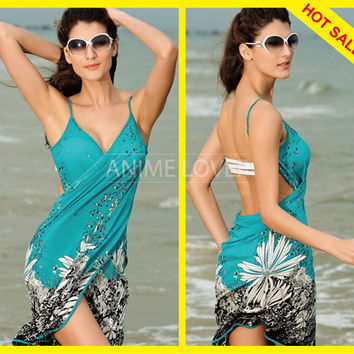 women summer swimwear saida de praia swimsuit bikini dress beach cover up bathing suit cover ups Sarong Pareo