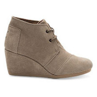 TOMS Suede Women's Desert Wedge Shoes