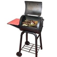 Char-Griller Pro Deluxe Barrel Charcoal Grill Garden Outdoor BBQ Cooking Smokers