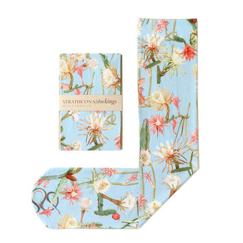 Printed Socks Desert Flower -- Powder Blue