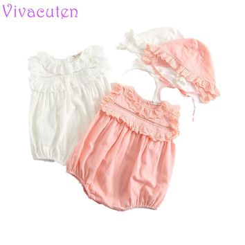 Newborn Baby Girls Rompers Tiny Cotton Solid White Colour Lace Romper High Quality Boutique Toddler Baby Girls Costume