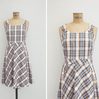 1960s Dress - Vintage 60s Plaid Dress - Patricia Dress