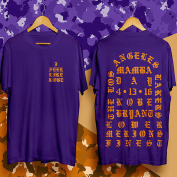 Kanye West shirt I Feel like Kobe Yeezy tshirt Yeezus tshirt Los Angeles  Lakers shirt afb5d55bb993