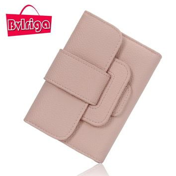 BVLRIGA Small Ladies Leather Wallet Women Wallets And Purses Female Coin Purse Id Credit Card Holder Cute Wallet Leather Walet
