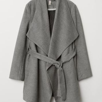 Short Coat - Dark gray - Ladies | H&M US