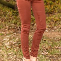 Gossip Girl Jeggings-Nutmeg