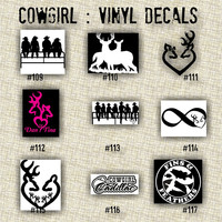 COWGIRL vinyl decals - 109-117 - personalizable  vinyl decals - car window decal - vinyl sticker - wall decal