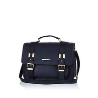 River Island Womens Navy blue large satchel