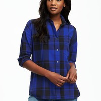 Boyfriend Flannel Shirt for Women | Old Navy