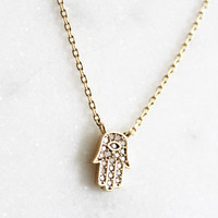 Hamsa Jewel Necklace