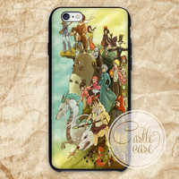 Studio ghibli,mononoke,spirited away all character iPhone 4/4S, 5/5S, 5C Series, Samsung Galaxy S3, Samsung Galaxy S4, Samsung Galaxy S5 - Hard Plastic, Rubber Case