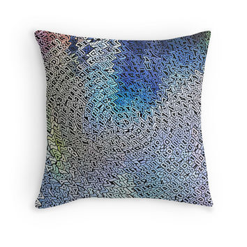 'Tribal Mosaic Variation' Throw Pillow by SpieklyArt