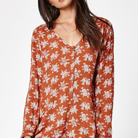 Volcom On The Brink Printed Long Sleeve Romper at PacSun.com
