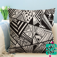 Aztec Abstract Pattern Zippered Pillow Case, Cushion Case, Pillow case