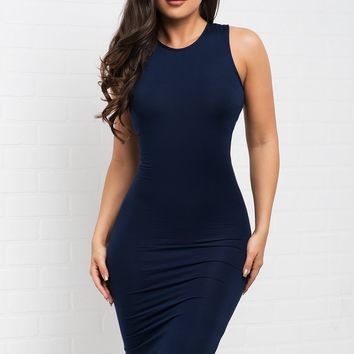 Marlene Dress - Navy