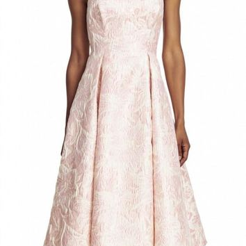 Adrianna Papell - 41911800 Strapless Floral Jacquard Dress
