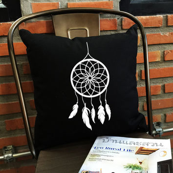 Dream catcher Pillow cover, throw pillow cover,Cotton canvas pillow cover / Tumblr Inspired cotton canvas pillow cover