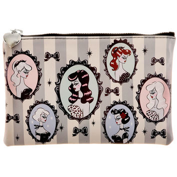 Coquettish Cameos Zipper Pouch