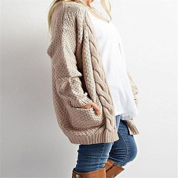 Aututmn Winter Cosy Warm Cardigans Pointelle Pullover Sweater Blouses