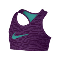 Nike Pro Hypercool Fitted Graphic Girls' Sports Bra