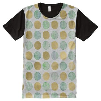 watercolor dot design All-Over-Print shirt