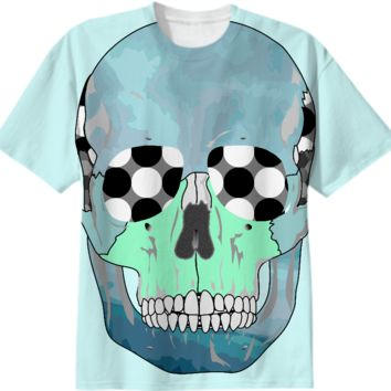 Blue Skull T-Shirt created by Elsewhere | Print All Over Me