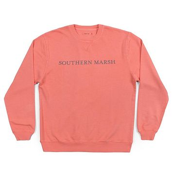 SEAWASH™ Sweatshirt in Coral by Southern Marsh - FINAL SALE