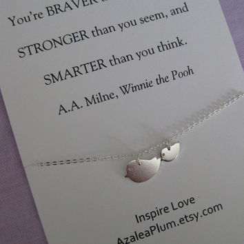 SISTER Jewelry// Mother Daughter Jewelry // Inspirational Jewelry // Simple STERLING // Graduation Gift // Granddaughter // Best Friend
