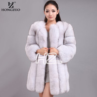 2016 High Imitation Women's Fur Coats Faux Fur Coat Female Artificial Fox Fur Jacket Winter Warm Long Overcoat 4XL PC240