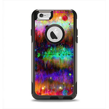 The Neon Paint Mixtured Surface Apple iPhone 6 Otterbox Commuter Case Skin Set