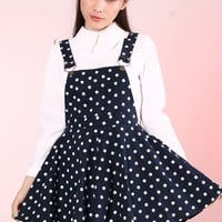 Ready To Post - Navy Polka Dot Pinafore