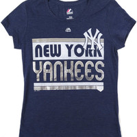 New York Yankees Majestic Short Sleeve T Shirt Ladies Size M