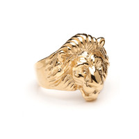 Gold Leo the Lion Ring