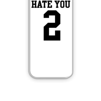 Hate You 2 Jersey - iPhone 5&5s Case