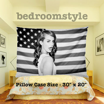 "lana del rey pillow case cover bedding set 30"" x 20"" 2 side print"