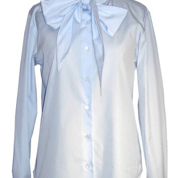 Bow Tie Womens Button Down Shirt