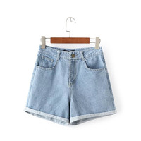 Korean Boyfriend Denim Pants Slim Shorts [6034185281]