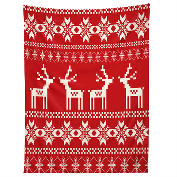 Natt Christmas Red Deer Tapestry