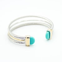 Turquoise multi wire bracelet