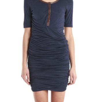A.L.C. Twisty Dress in Navy