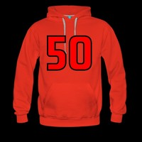 Red Black Outline Number 50 | Numbers and Letters