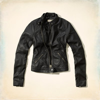 Bay Street Faux Leather Moto Jacket
