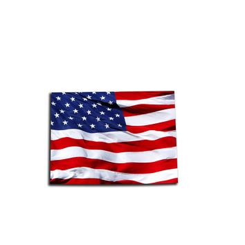 Colorado Waving USA American Flag. Patriotic Vinyl Sticker