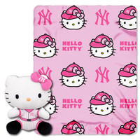 New York Yankees MLB Hello Kitty with Throw Combo