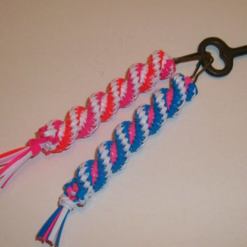 Bright Colored Back to School Gimp Keychain Set