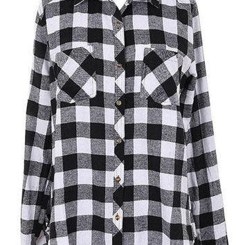 Checkered Button Up