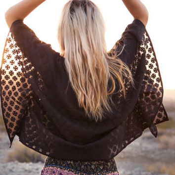 Lace Boho Poncho, Bohemian Top, Shirt, Hippie, Hipster Chic, Elegant, Flowing, Festival, Wild Child, Free Spirit