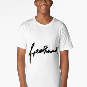 "'""freehand"" hand drawn typography' Long T-Shirt by BillOwenArt"