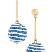 J.Crew Stripe Ball Drop Earrings | Nordstrom
