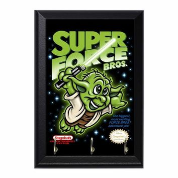 Super Force Bros Yoda Decorative Wall Plaque Key Holder Hanger